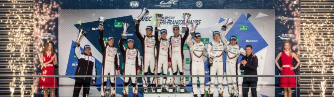 Toyota takes 1-2 at Spa;  G-Drive secures LMP2