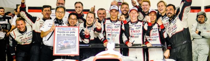 Toyota secure front row for 24 Hours of Le Mans
