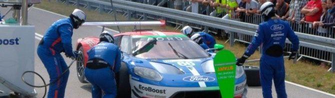 Ford Chip Ganassi light up Cologne test track