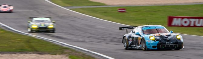 Two points separate top three LMGTE-Am teams at halfway stage