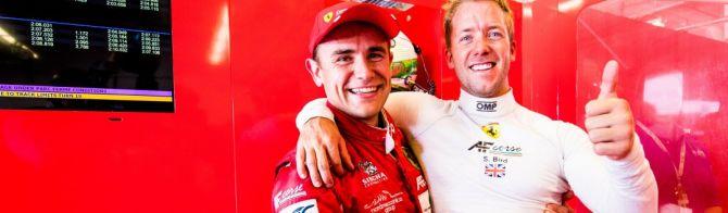 Ferrari takes pole in a hot GT battle