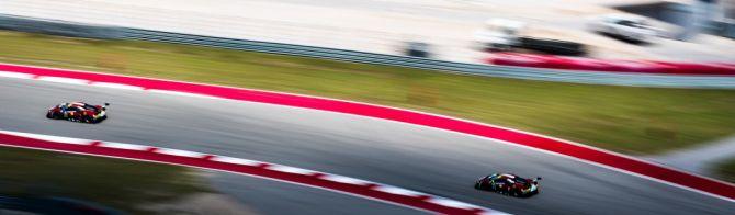 Ferrari fight hard through to GTE victory in COTA