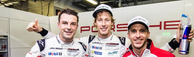 Porsche's Bamber and Hartley Claim Pole at Fuji