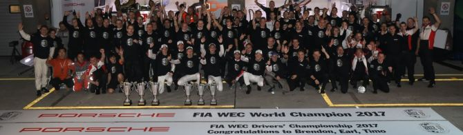 Porsche: 2017 FIA World Endurance Manufacturers' Champion